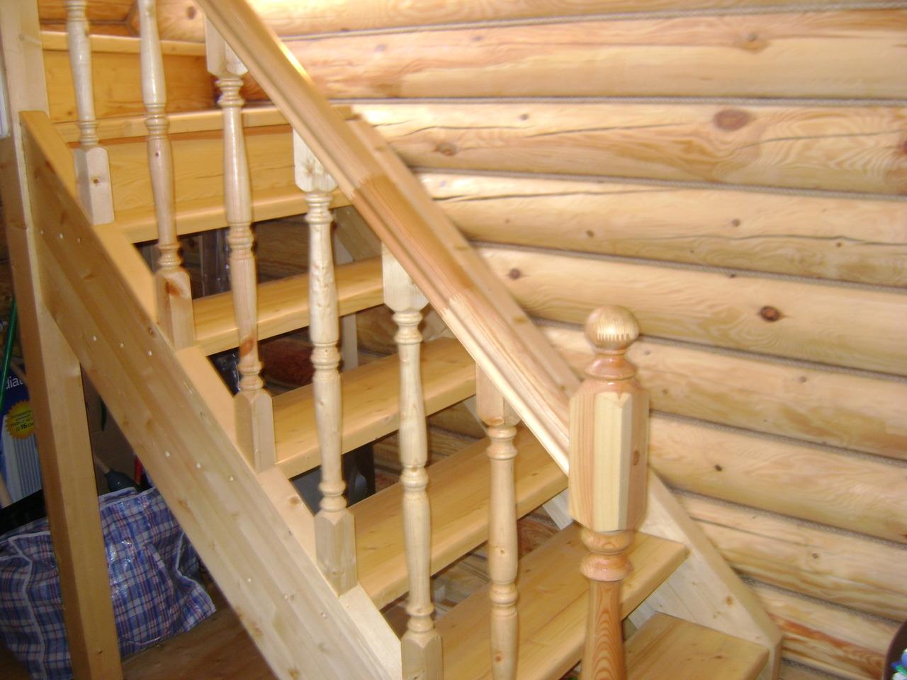 Лестницы деревянные на второй этаж в деревянном доме своими руками
